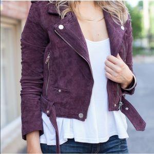 Blanknyc Purple Plum Suede Moto Jacket XS